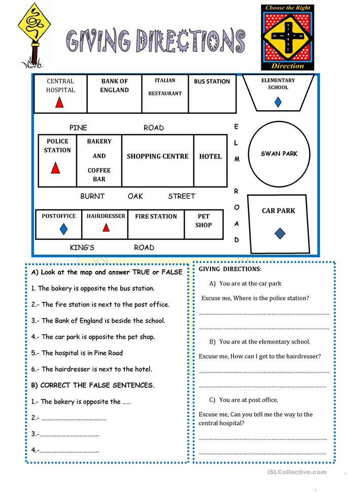 giving directions worksheet free esl printable worksheets made by teachers. Black Bedroom Furniture Sets. Home Design Ideas