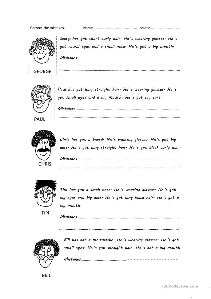 has got, - ESL worksheets
