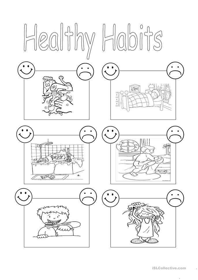 Printables Healthy Living Worksheets 96 free esl healthy worksheets habits