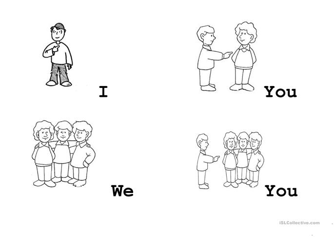 Pronouns Flashcards I / We / You worksheet - Free ESL printable ...