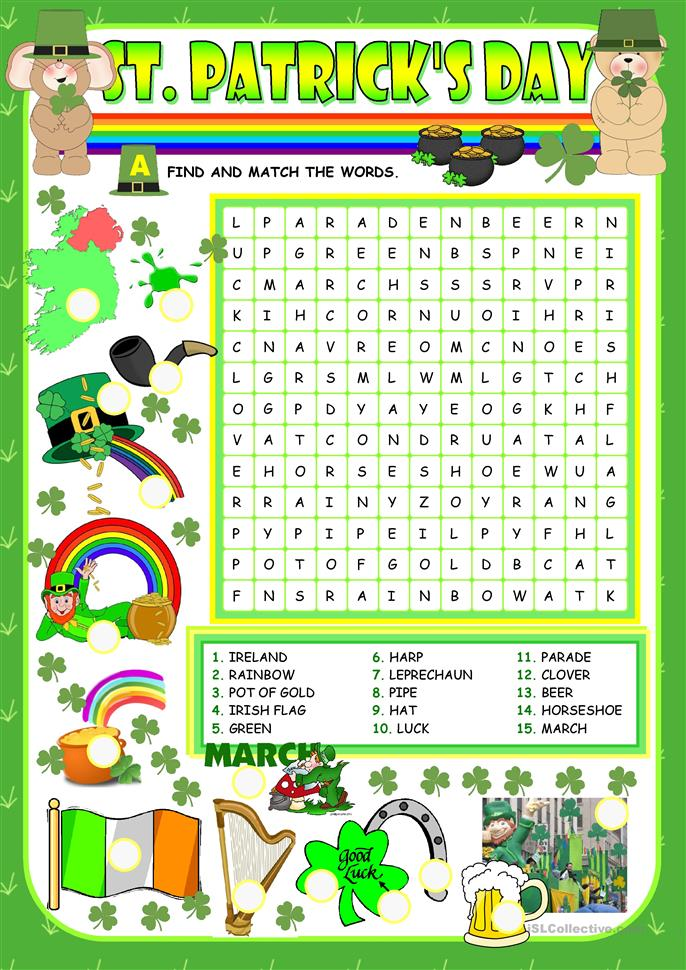 Saint Patrick's day - ESL worksheets