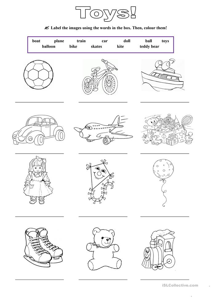 Toys - ESL worksheets