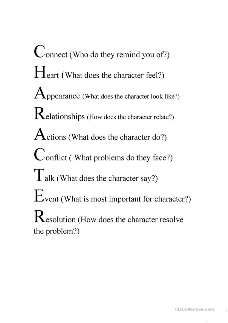 how to do a character study