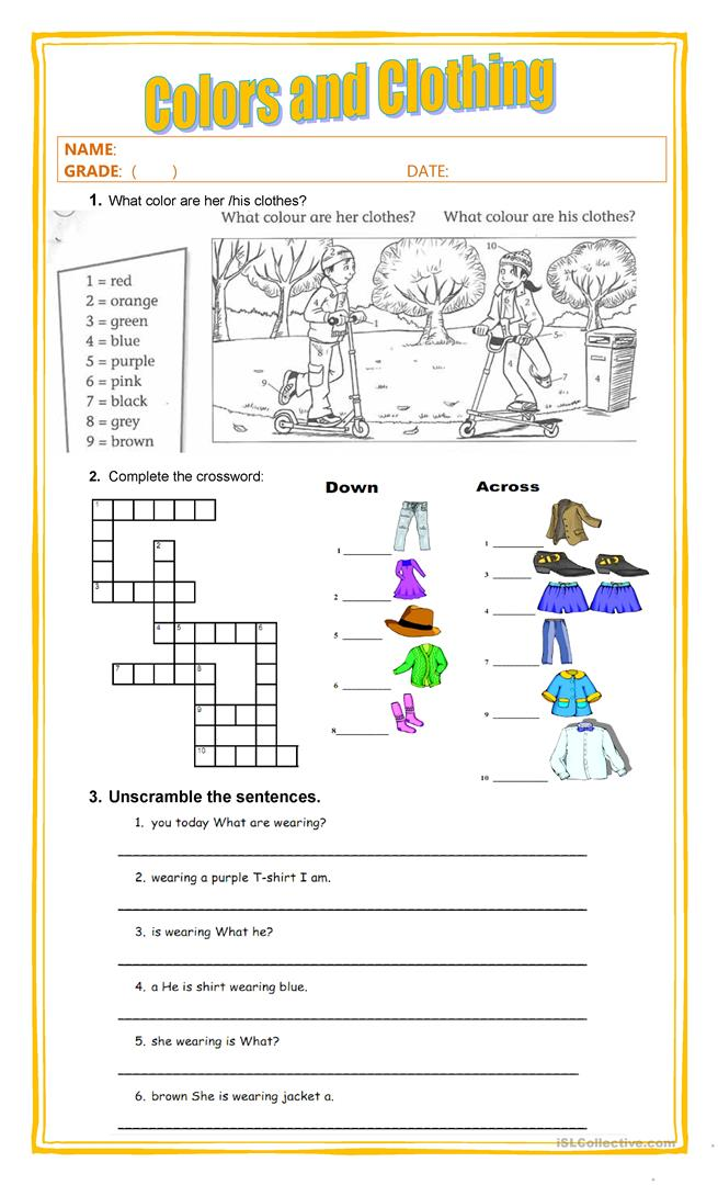 colors and clothing worksheet free esl printable worksheets made by teachers. Black Bedroom Furniture Sets. Home Design Ideas