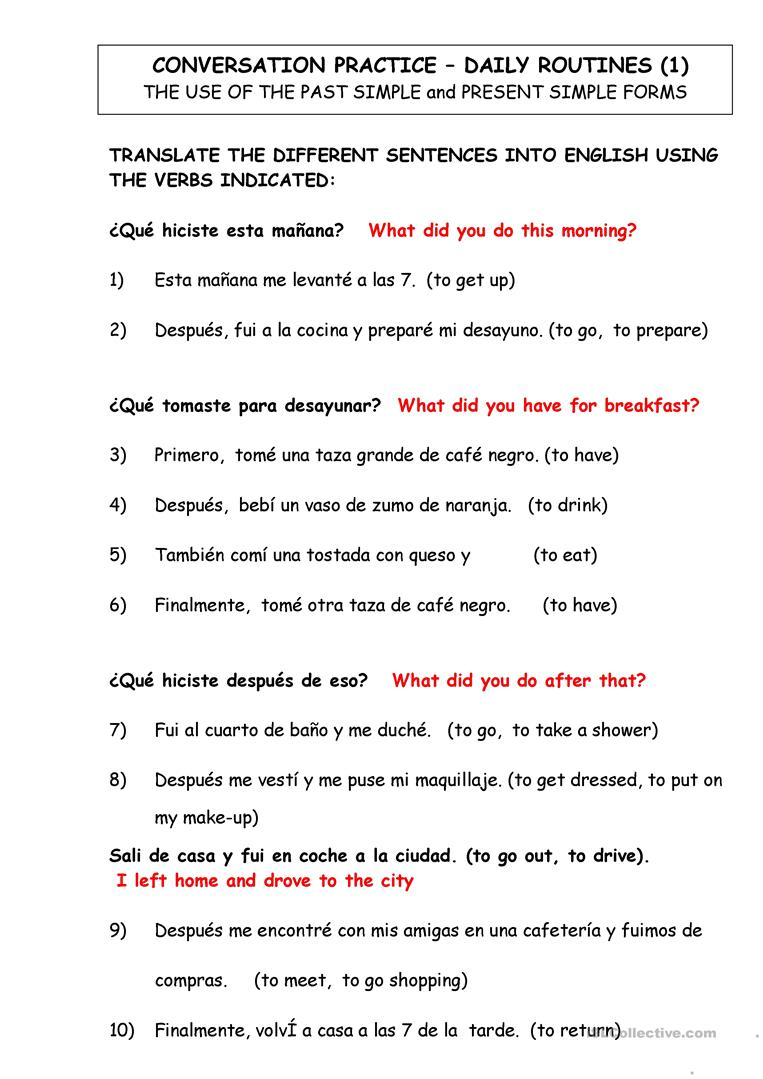 47 Free Esl Spanish Worksheets