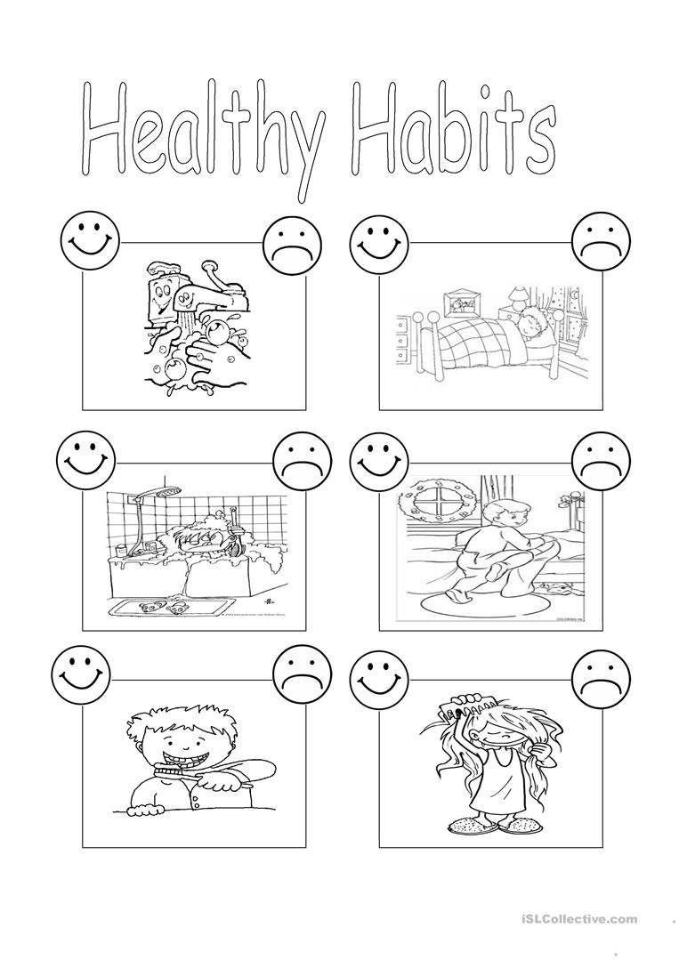 Healthy habits worksheet - Free ESL printable worksheets made by ...