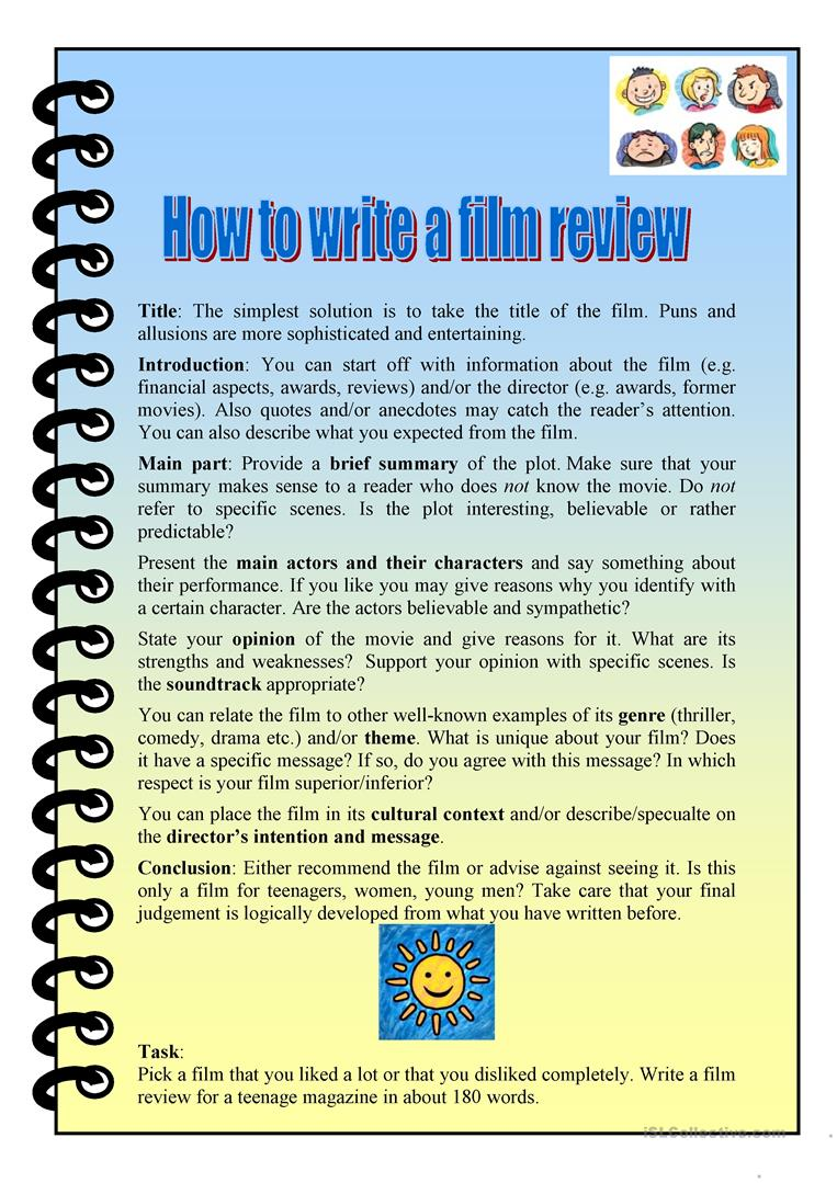 How to write a movie essay