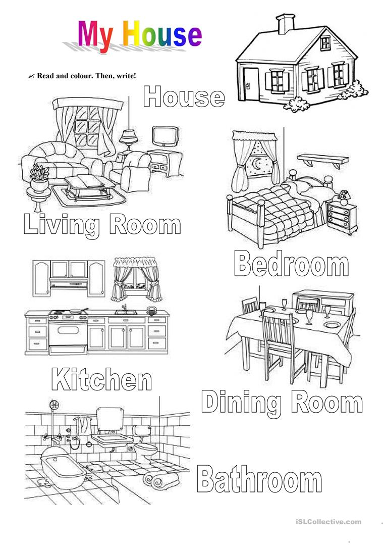 Printable Worksheets Home : My house worksheet free esl printable worksheets made by