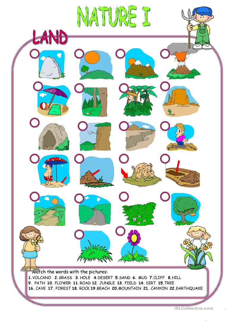 English ESL Nature Elements Worksheets Most Ed 5
