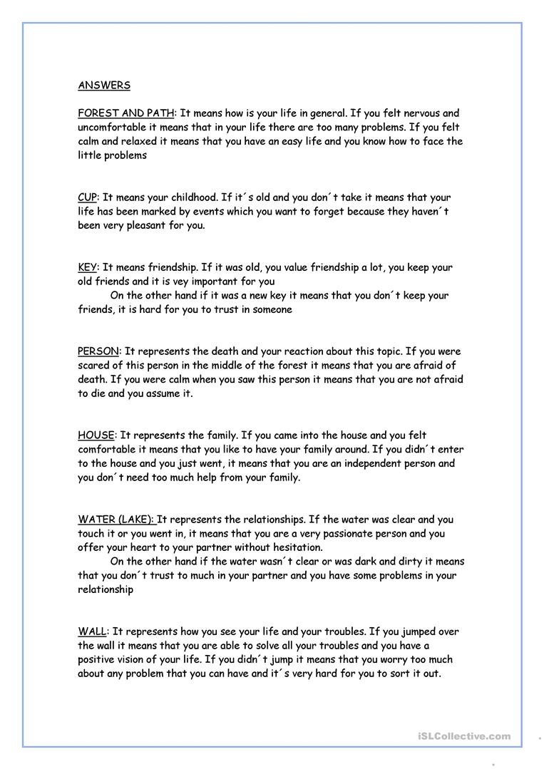 Personality test essay