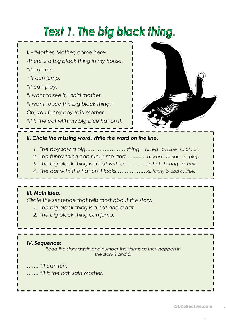 Short stories for beginners with pictures and tasks  worksheet
