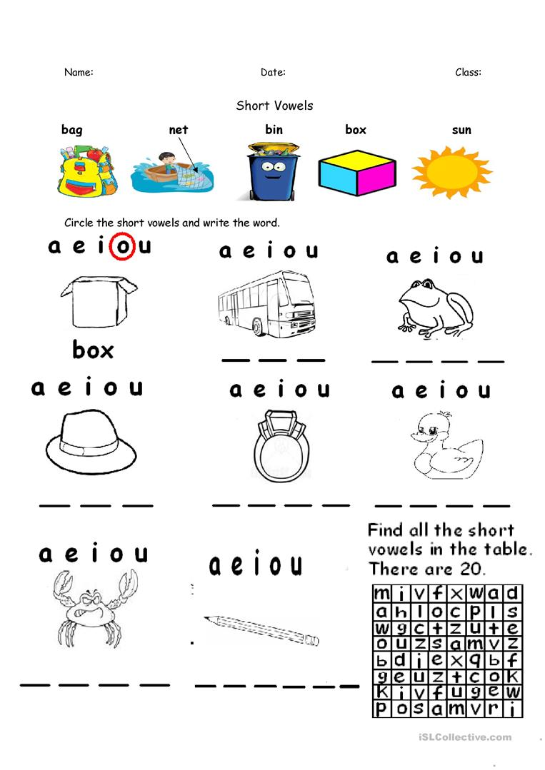 worksheet Short Vowel Sounds Worksheets 12 free esl short vowels worksheets aeiou re uploaded