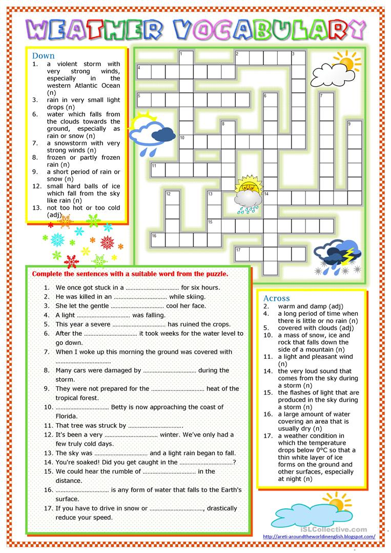 weather vocabulary worksheet free esl printable worksheets made by teachers. Black Bedroom Furniture Sets. Home Design Ideas