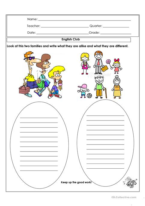 Alike and different worksheet - Free ESL printable worksheets made ...