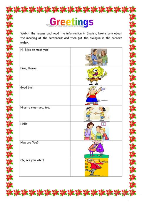 Greetings worksheet free esl printable worksheets made by teachers greetings full screen m4hsunfo