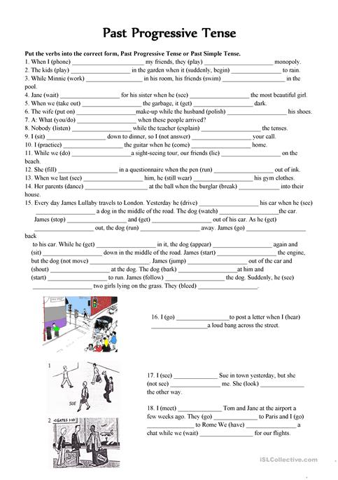 Past Continuous Vs Past Simple Tense Worksheet Free Esl Printable