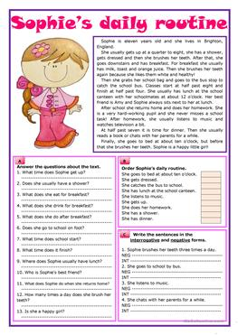 1004 Free Esl Daily Routines Worksheets