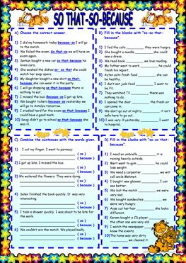 English ESL because worksheets - Most downloaded (61 Results)   Page 2