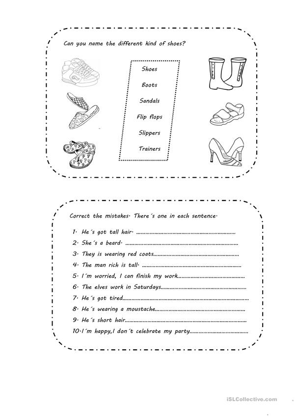 Activities based on The elves and the shoemaker