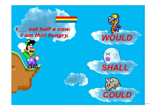 Auxiliary Verbs Mario Egg Game Part 2