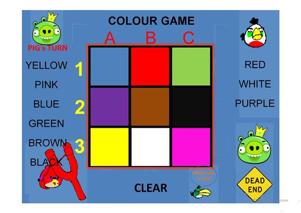 Colours Angry Bird Tic Tac Toe Game Part 2
