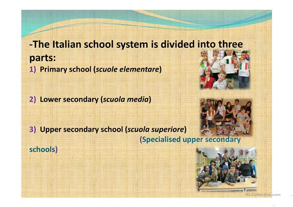 Education system in Italy