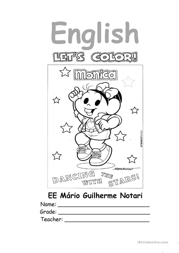 English notebook coloring page
