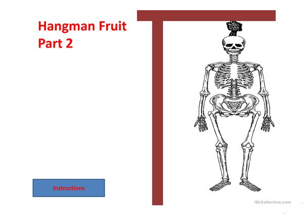 Hangman Fruit part 2
