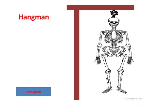 Hangman School Objects Part 1