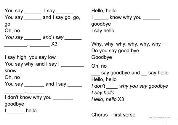 Hello Goodbye (The Beatles)