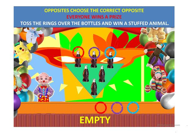 Opposites Carnival Ring Toss Game