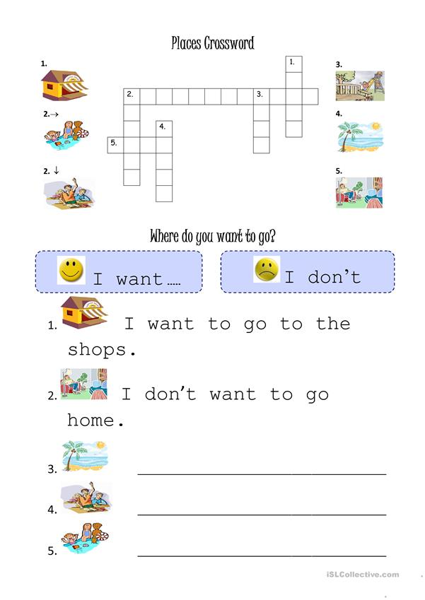 Places worksheet