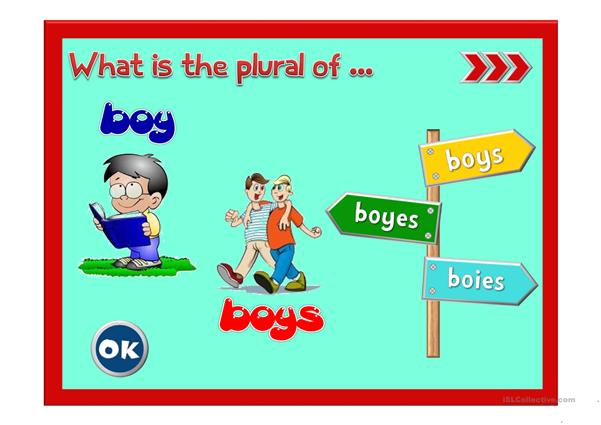 Plural of nouns - GAME