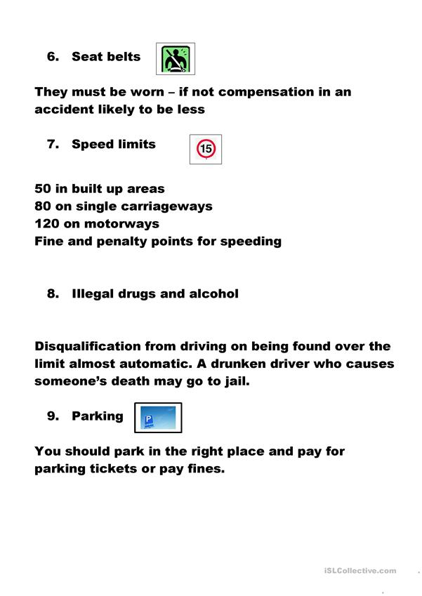 Rules of the road - laws of motoring