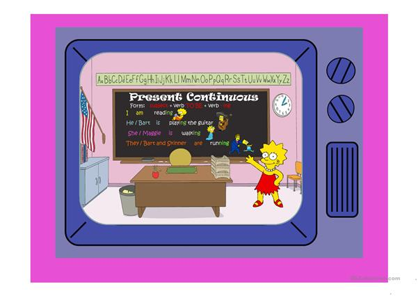 THE SIMPSONS PRESENT CONTINUOUS PART 1