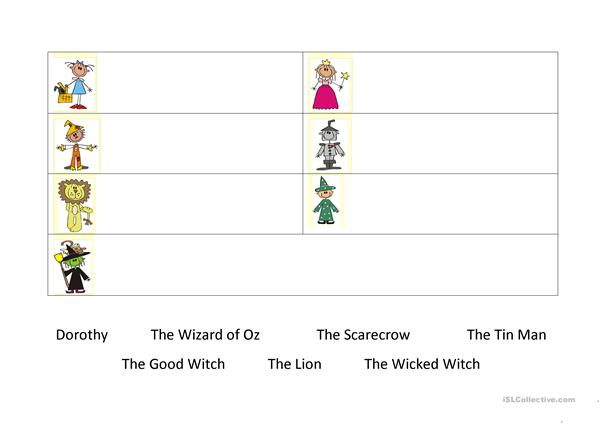 Wizard of Oz word match