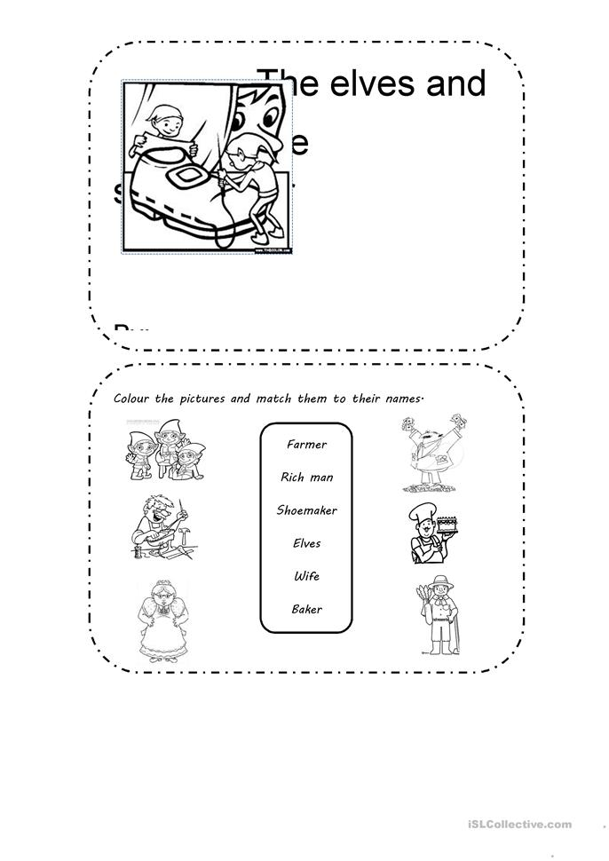Activities based on The elves and the shoemaker worksheet - Free ...