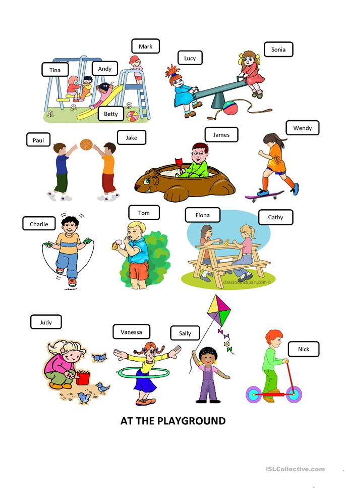 At the playground worksheet - Free ESL printable worksheets made by ...