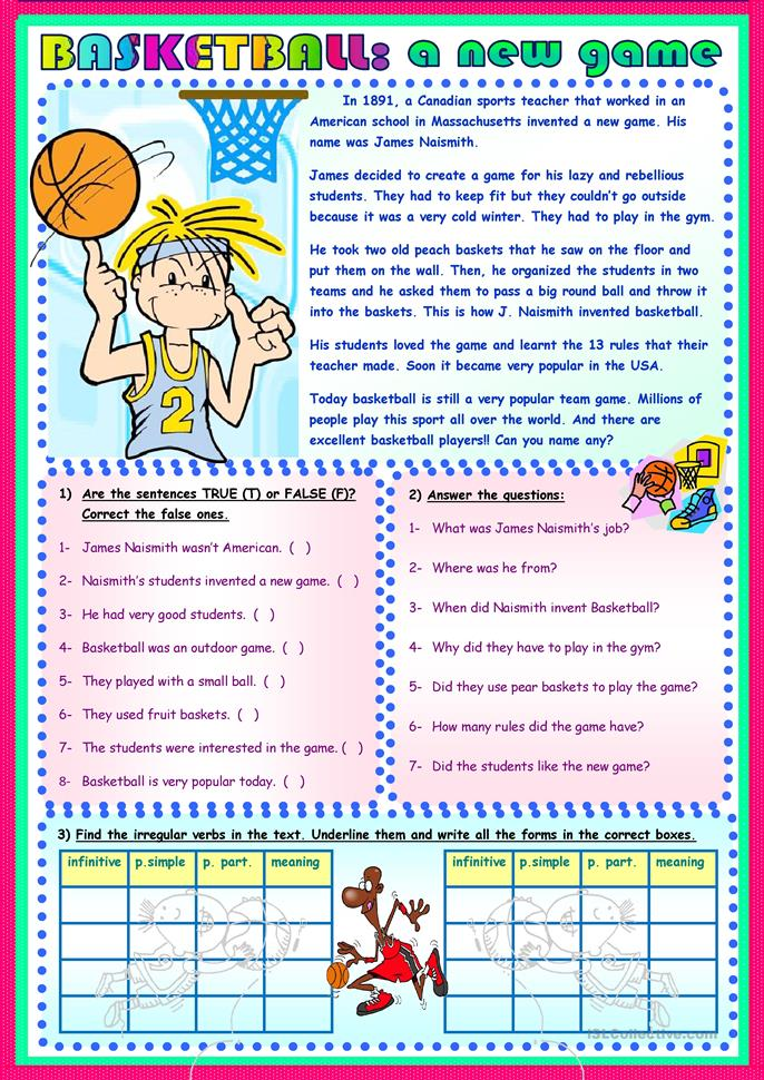 Worksheets Basketball Worksheets 19 free esl basketball worksheets a new game