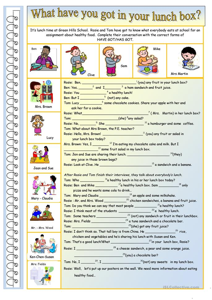 HAVE - HAS  GOT - ESL worksheets