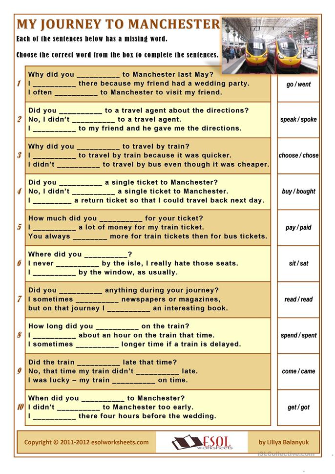 for using irregular verbs understand the Quiz & worksheet - understanding irregular verbs understanding of past tense verbs with this quiz and worksheet you'll focus on irregular verbs, when to use them.