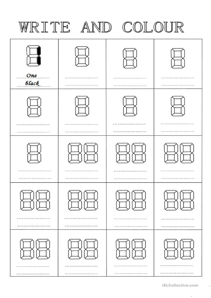 numbers and colors worksheet free esl printable worksheets made by teachers. Black Bedroom Furniture Sets. Home Design Ideas