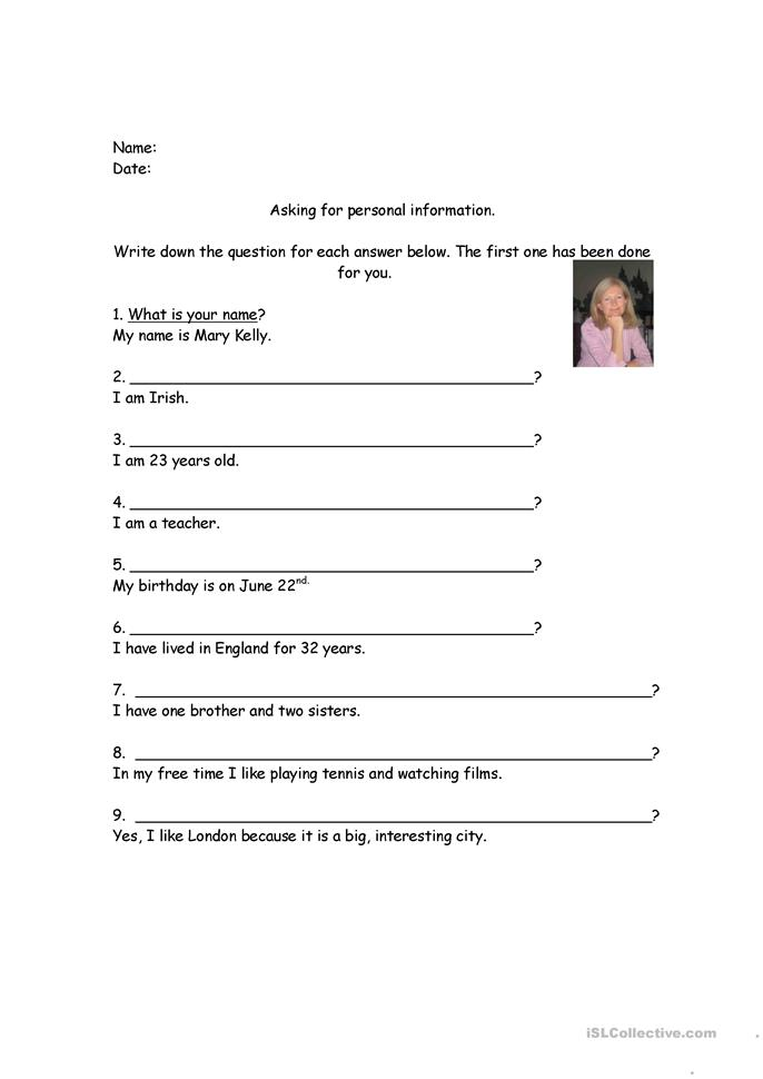 Worksheets Personal Information Worksheets personal information worksheet free esl printable worksheets made by teachers