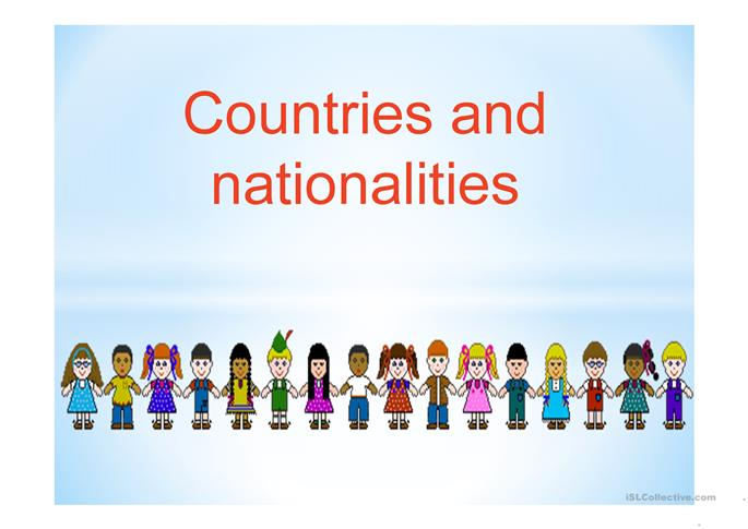 Powerpoint countries and nationalities - ESL powerpoints