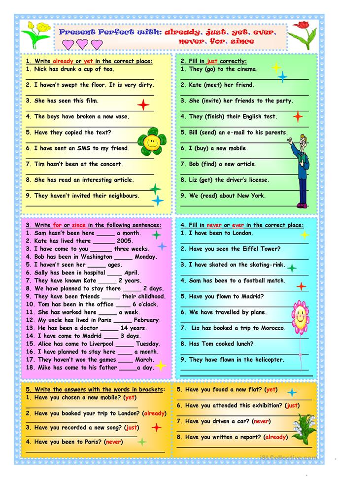 Present Perfect with a... - ESL worksheets