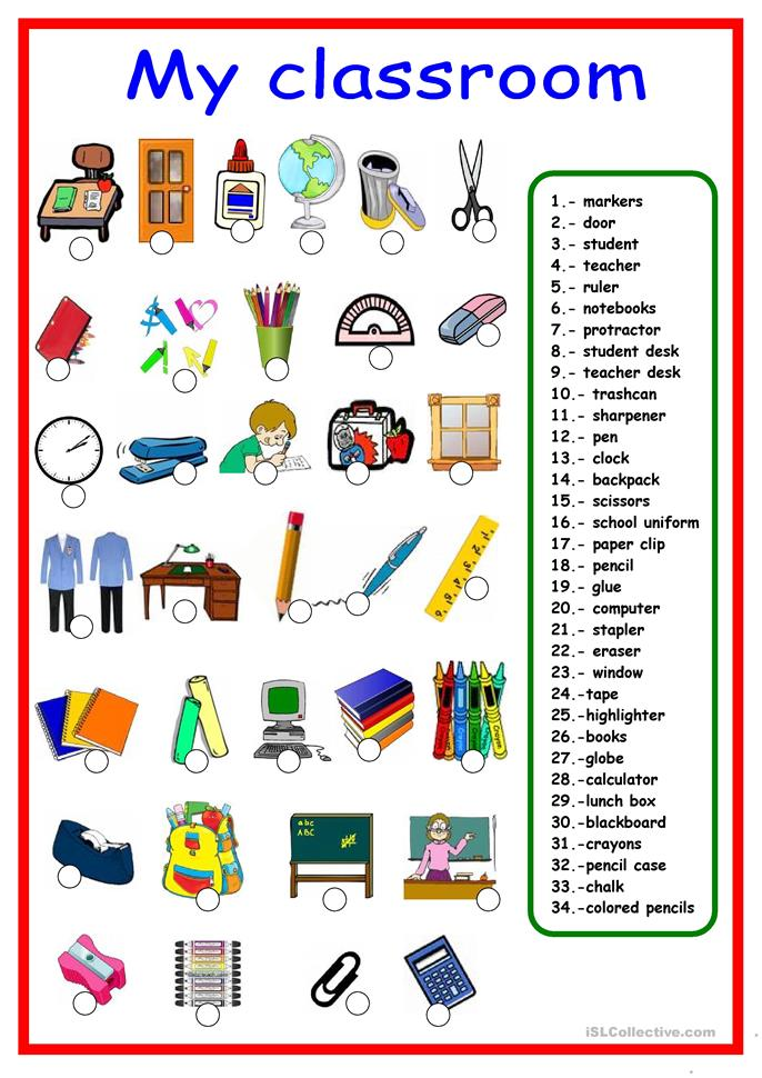 school supplies pictionary worksheet free esl printable worksheets made by teachers. Black Bedroom Furniture Sets. Home Design Ideas