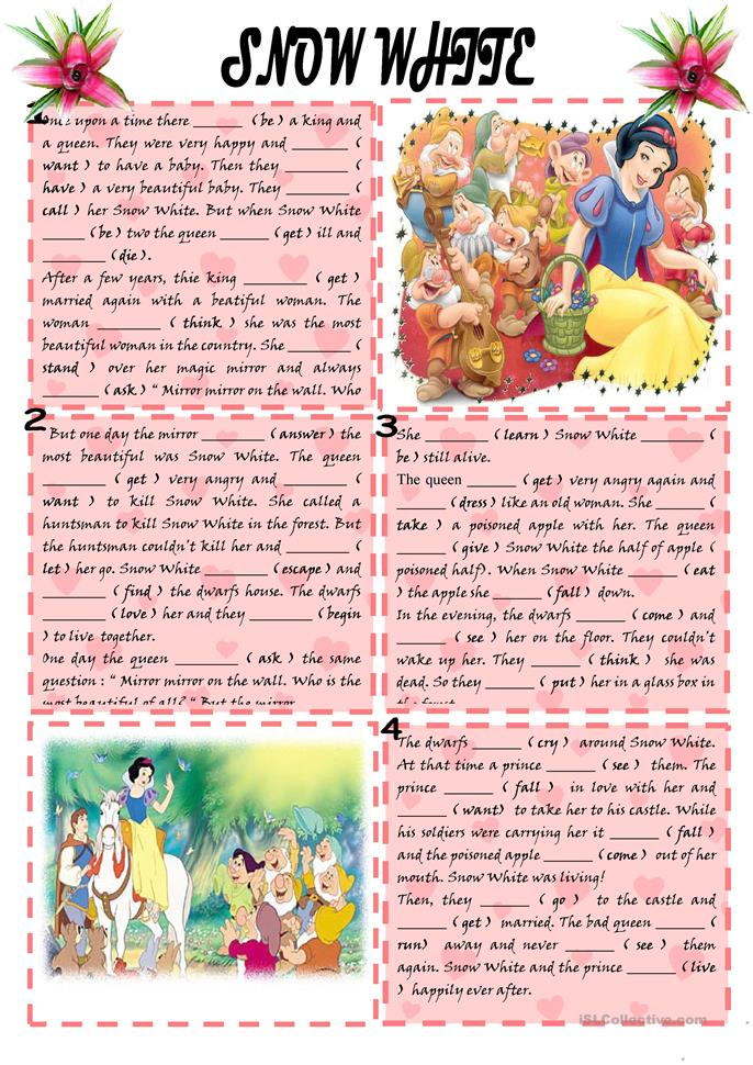 Snow White - ESL worksheets