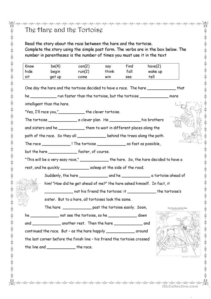 The hare and the Tortoise - ESL worksheets