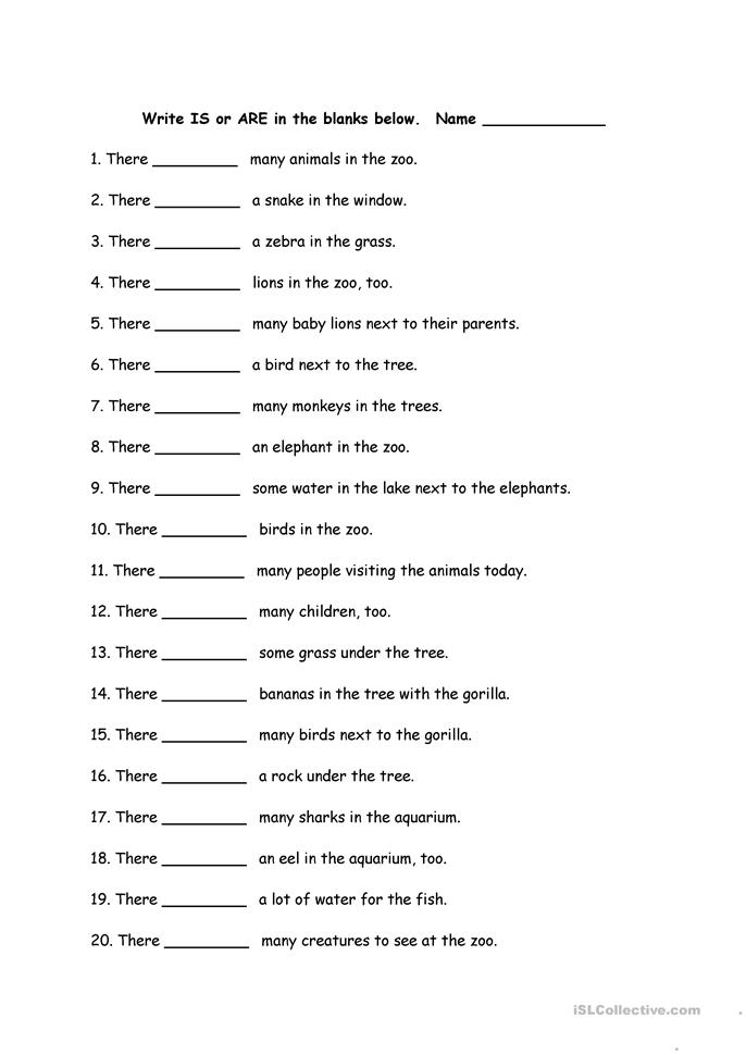 There is There are - ESL worksheets