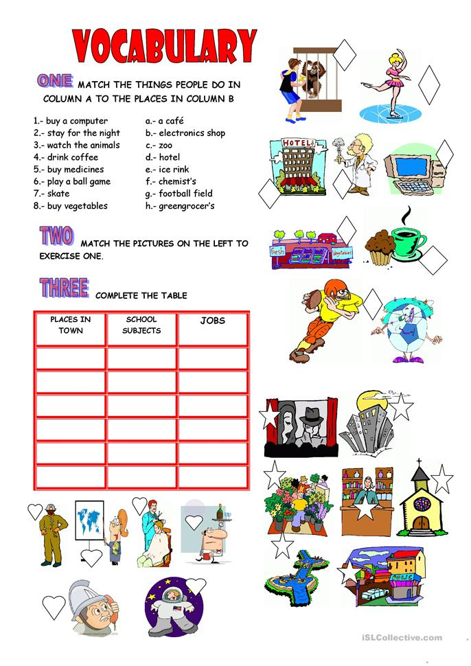 vocabulary places school jobs worksheet free esl printable worksheets made by teachers. Black Bedroom Furniture Sets. Home Design Ideas